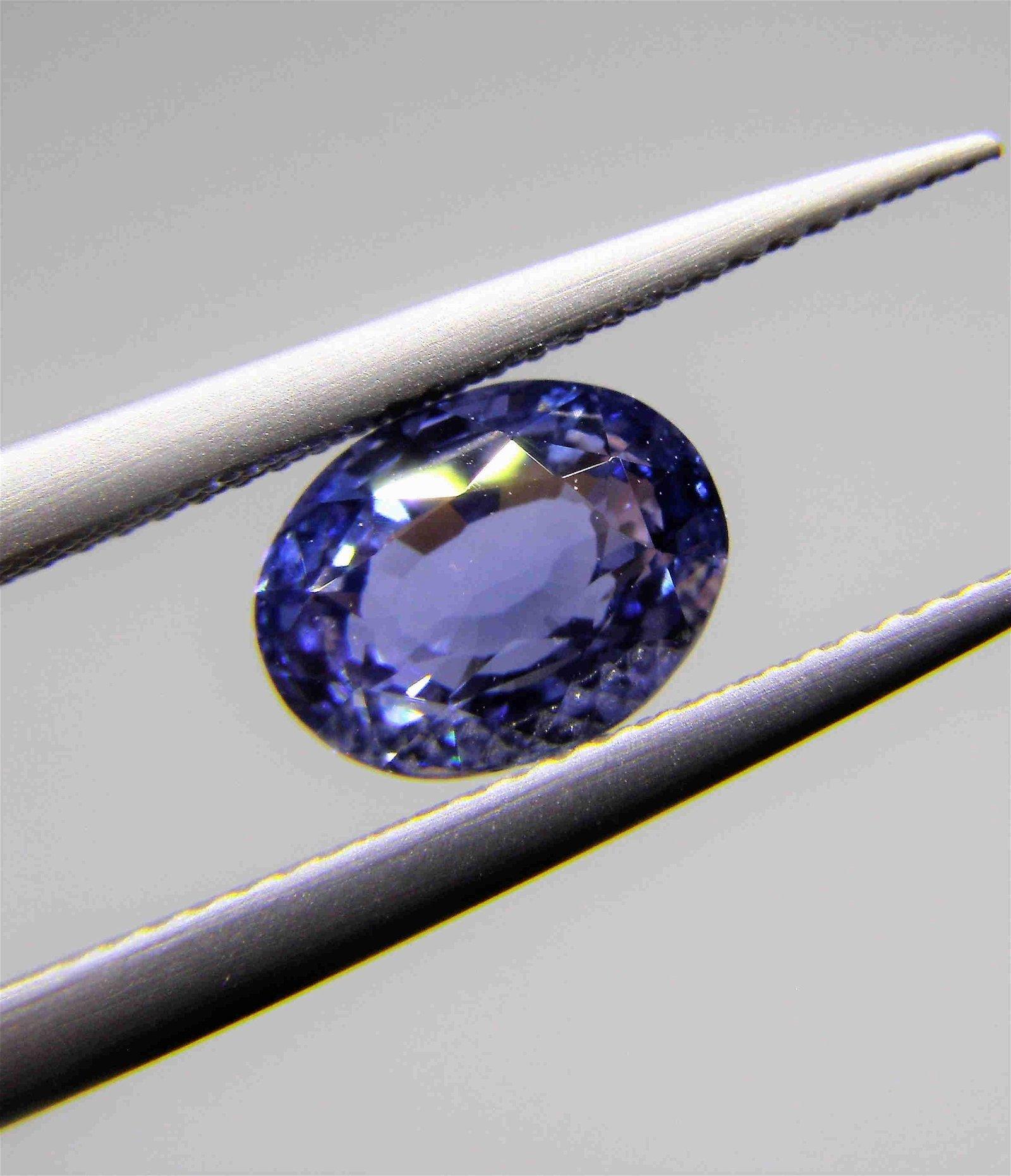 Blue Sapphire No Heat Certified - 1.08 ct