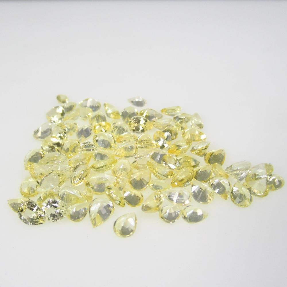 13.55 Ct Natural 84 Unheated Yellow Sapphire Pear Lot