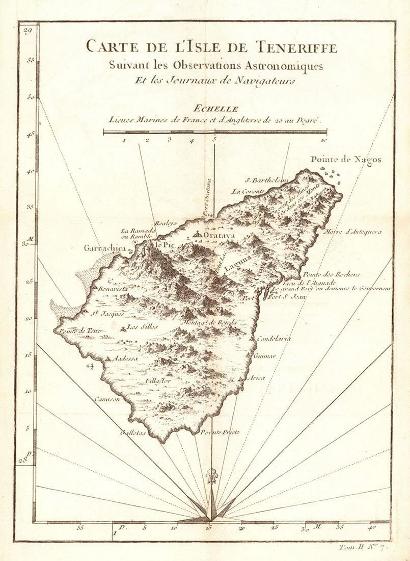 Carte De L'isle De Teneriffe