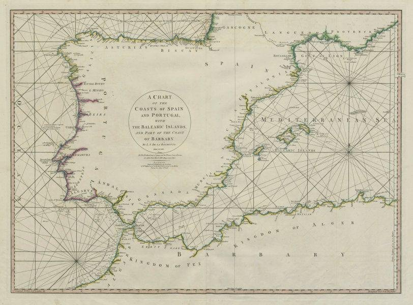 The coasts of Spain & Portugal with the Balearic
