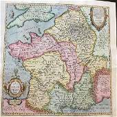 Ancient Gaul (France) based on ancient geographic