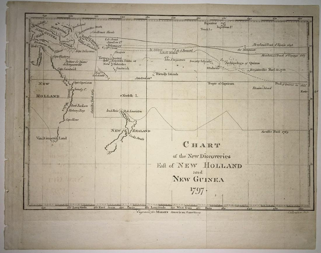 Chart of the New Discoveries East of New Holland And