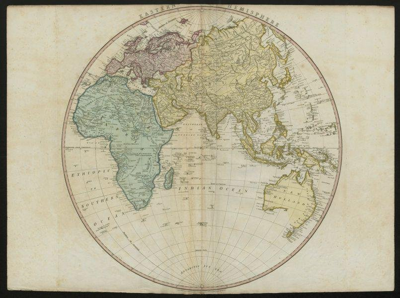 Eastern Hemisphere. Europe Asia Africa New Holland