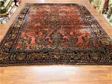 Antique Room Size Persian Sarouk Rug- 4168