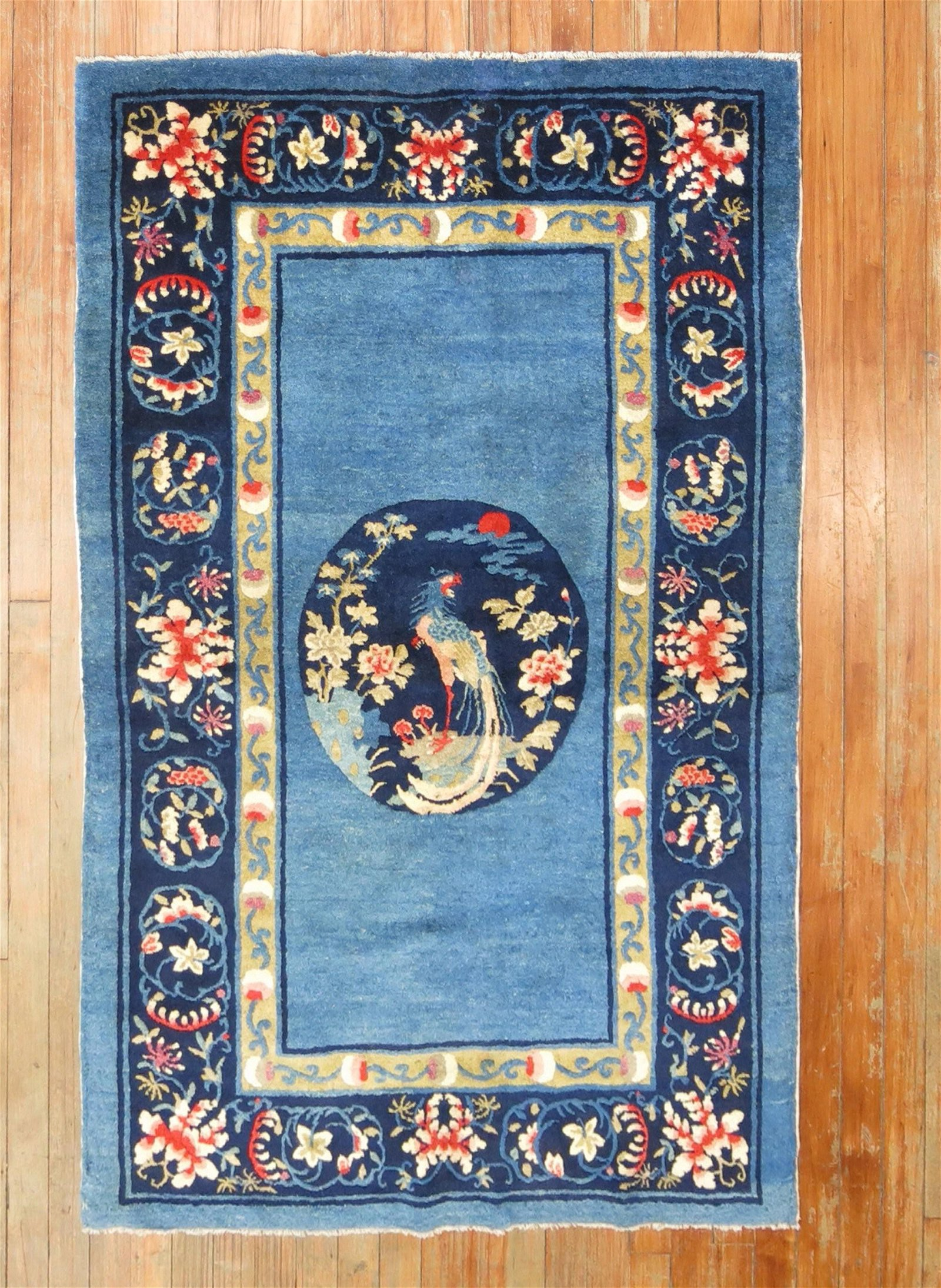 Blue Antique Chinese Scatter Rug