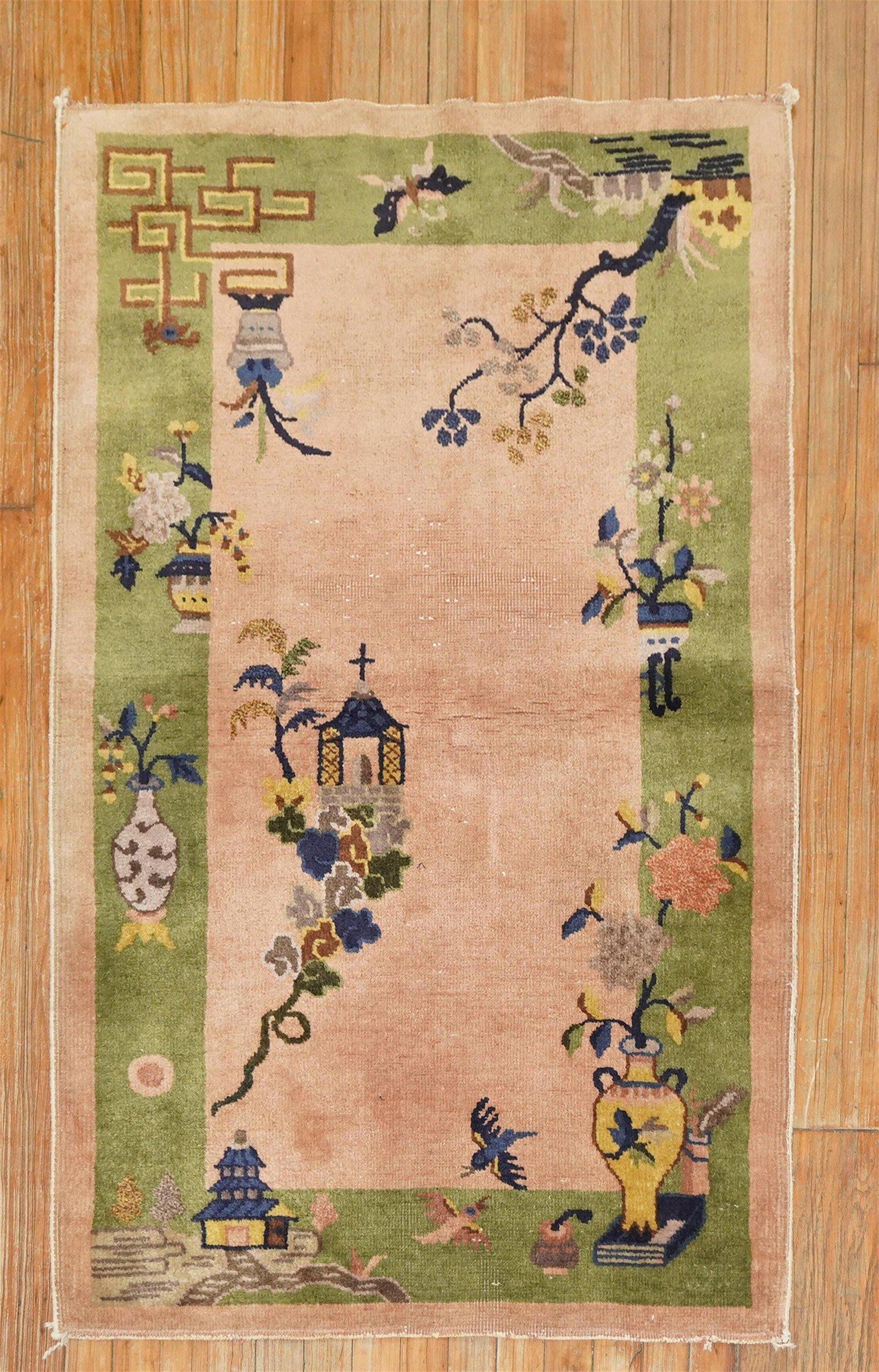 Blush Chinese Art Deco Rug