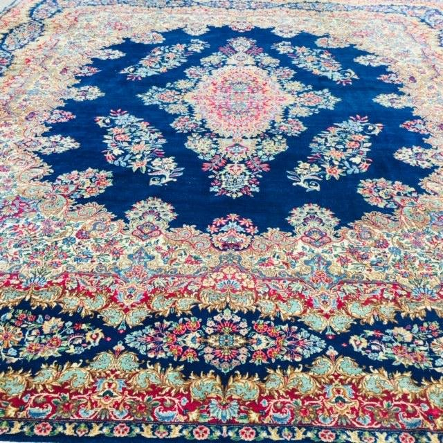 "Antique Persian Kerman rug, 9'10""x13'"