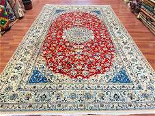 Vintage Persian room size Nain Rug3670