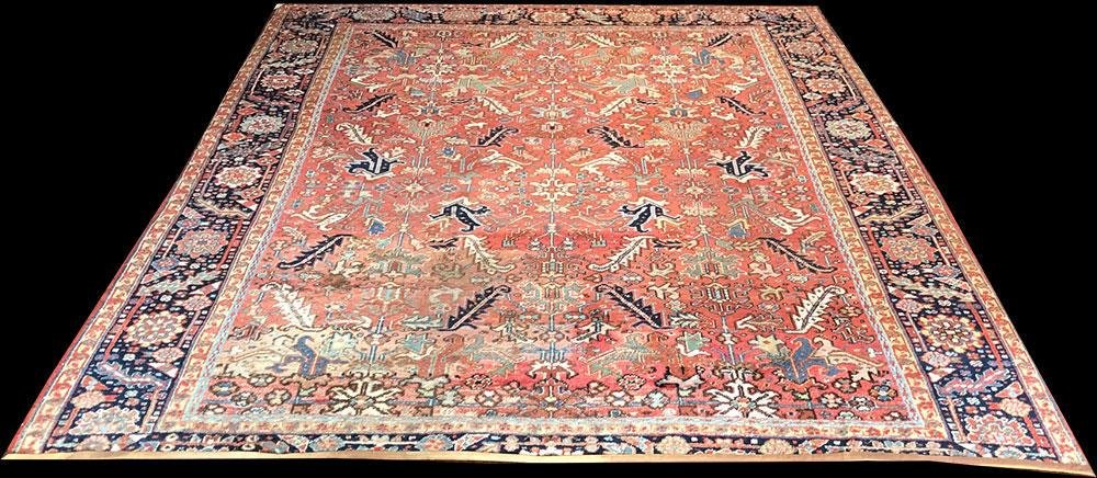 An Antique All Over Design Persian Heriz Rug