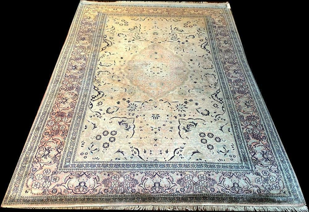 A Marvelous Vintage 100% Silk Chinese Rug
