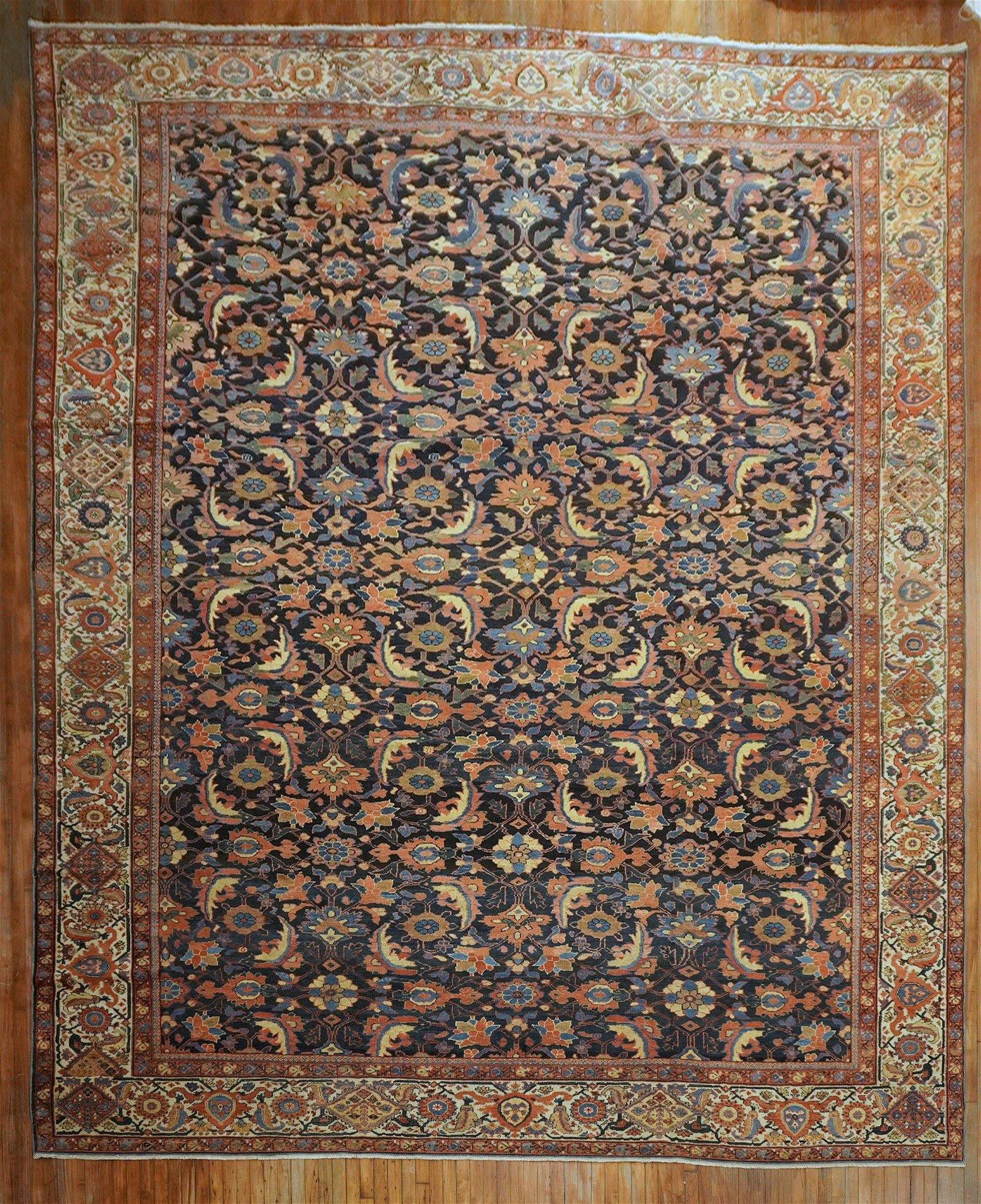 Masculine Oversize Persian Mahal Rug