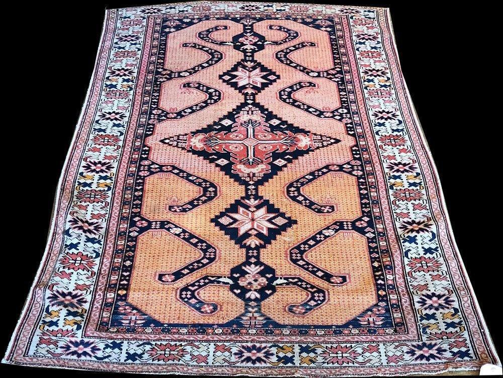 Antique Unusual 19th Century Caucasian Shirvan Rug