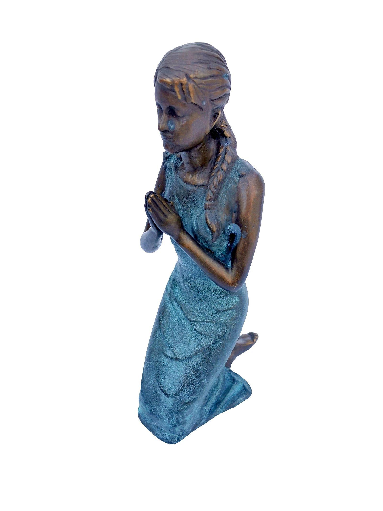 Bronze praying female
