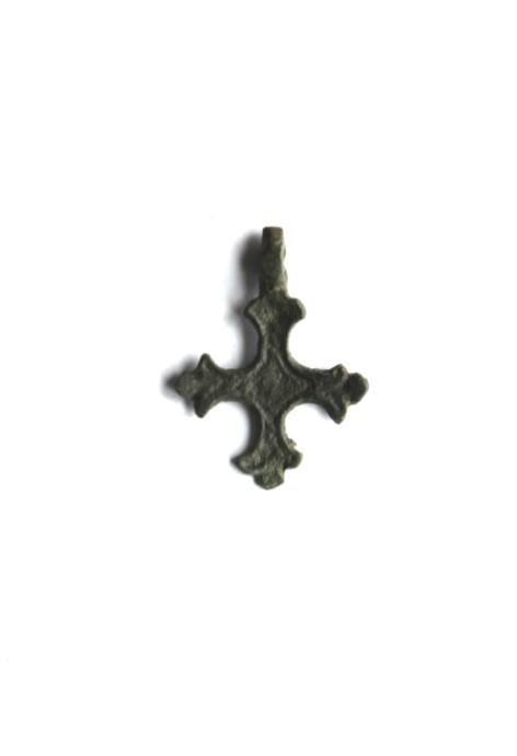 """Russian Child Cross, 11-12th C. """"FLEUR-DE-LIS"""""""