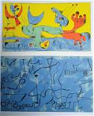 Joan Miro Plate 4 and Plate 8