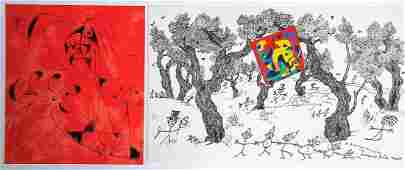 Joan Miro Plate 6 and Plate 7