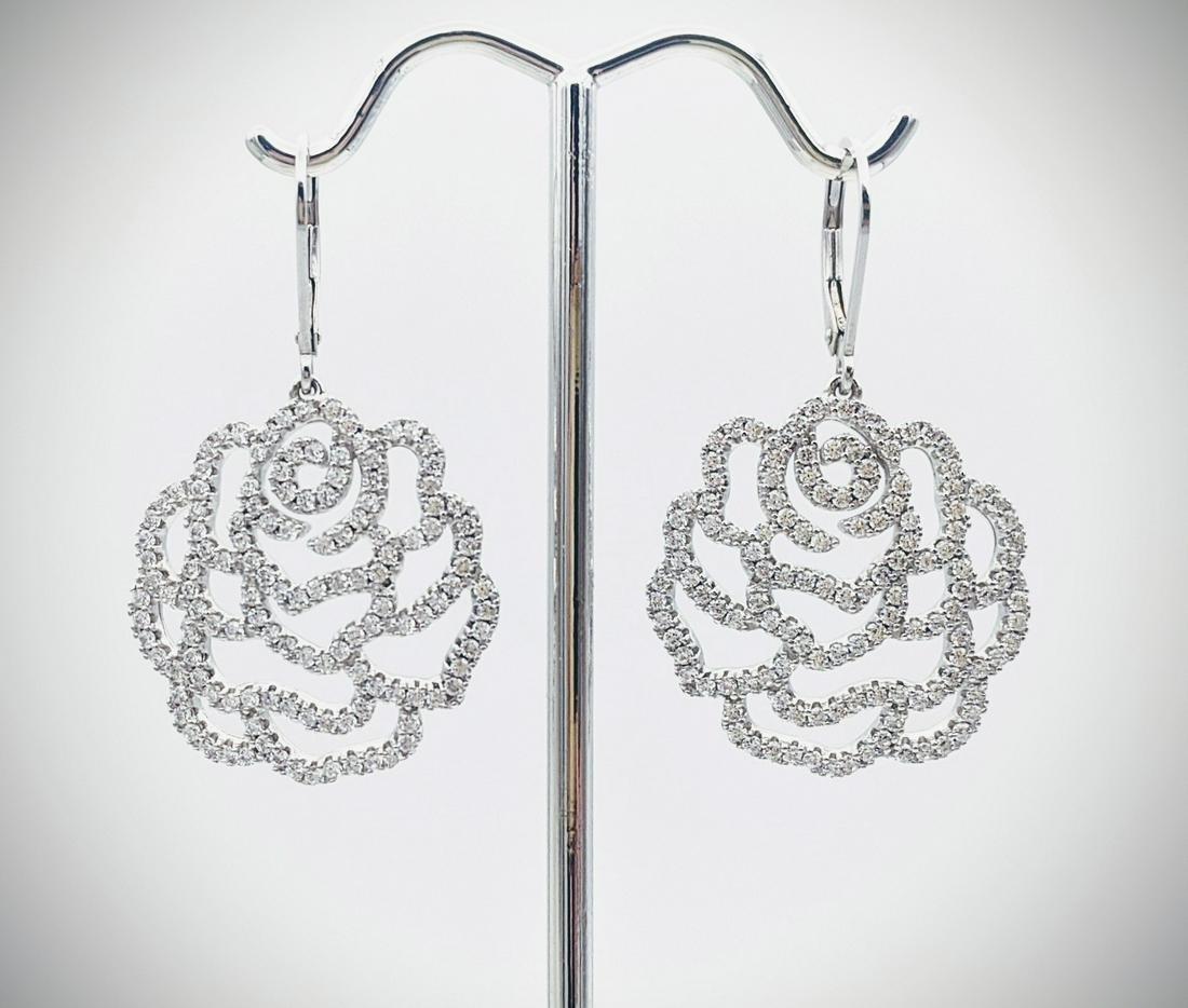 Blooming Rose Cubic Zirconia Earrings