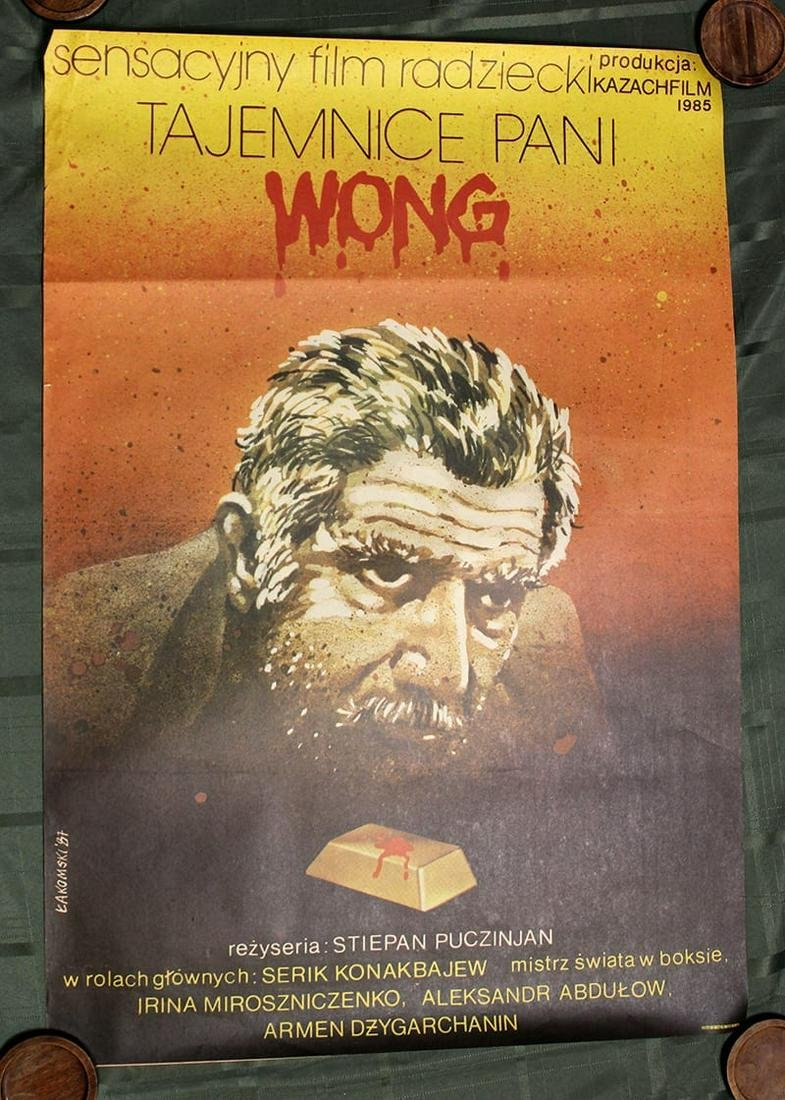 Vintage Polish Movie Posters (Tajemnice Pani Wong 'The
