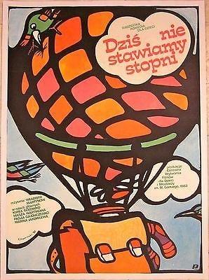 1985 Polish Lb Poster - Dzis Nie Stawiamy Stopni - Hot