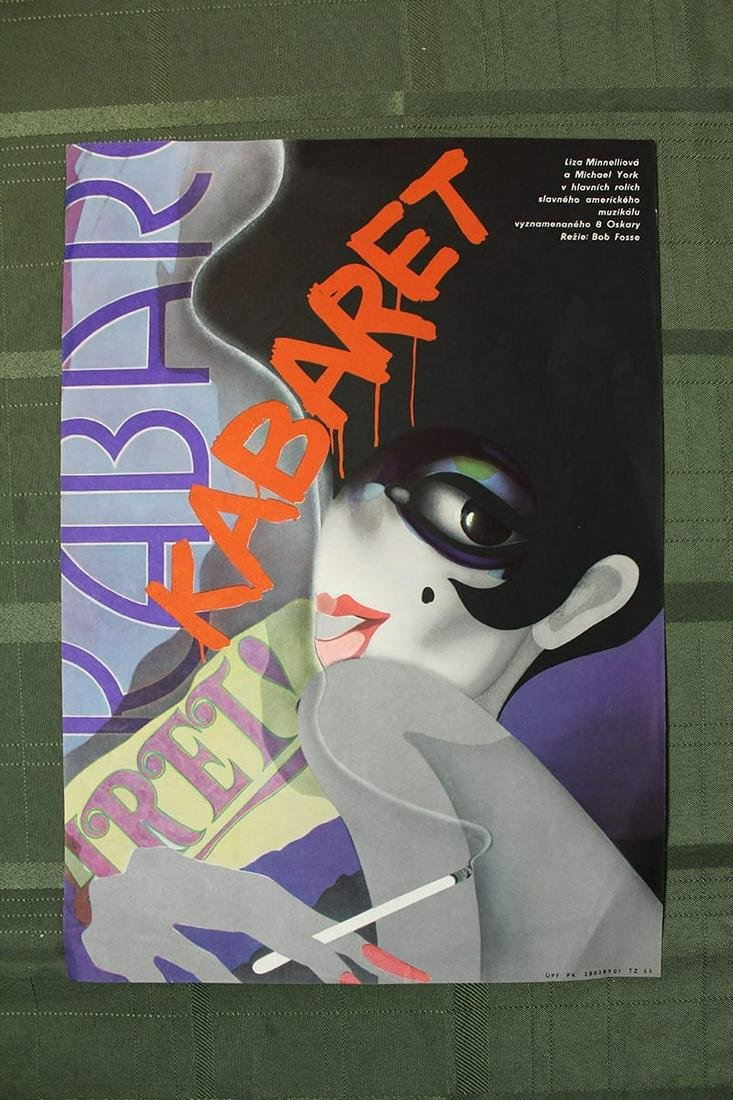 "Kabaret (USA, 1972) US 10"" x 16"" Polish Movie Poster"