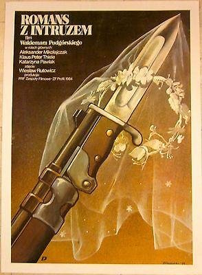 1984 Polish Lb Movie Poster - Romans Z Intruzem -