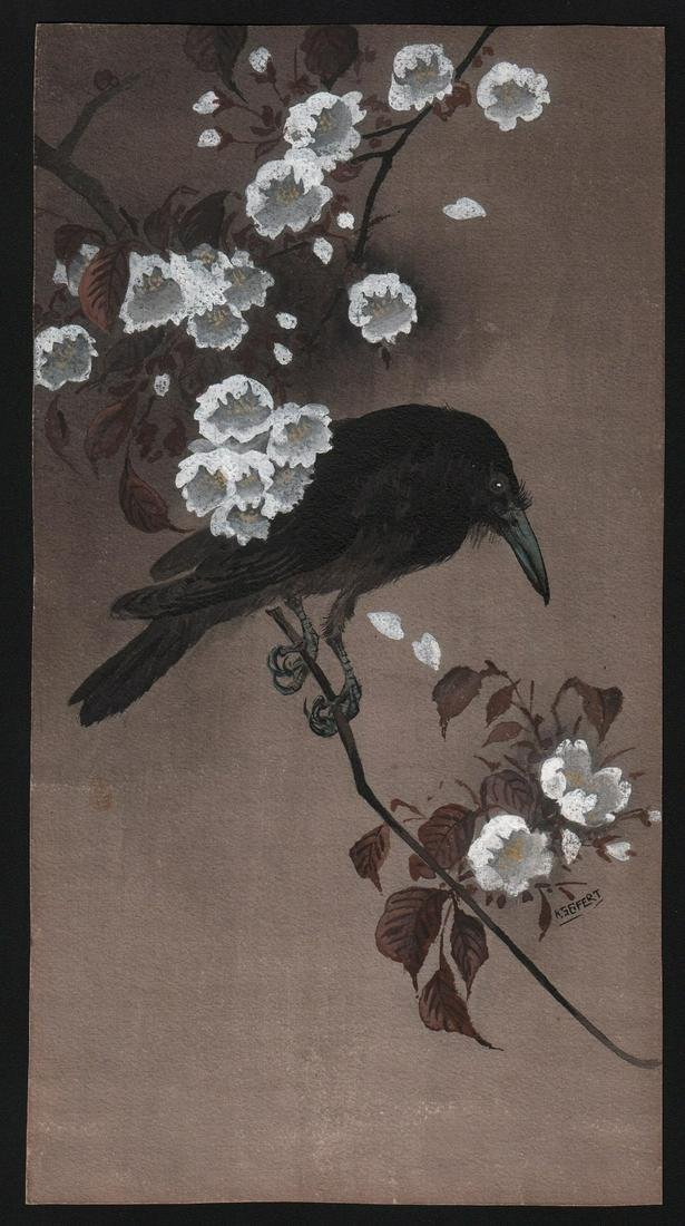 After Ohara Koson - Signed Kseifert: A painting (on