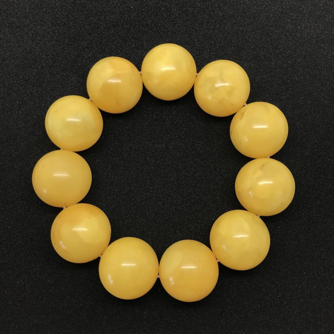 Marvellous Amber Bracelet made from Round Amber beads
