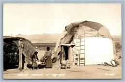 AMERICAN APACHE INDIANS OF ARIZONA VINTAGE REAL PHOTO