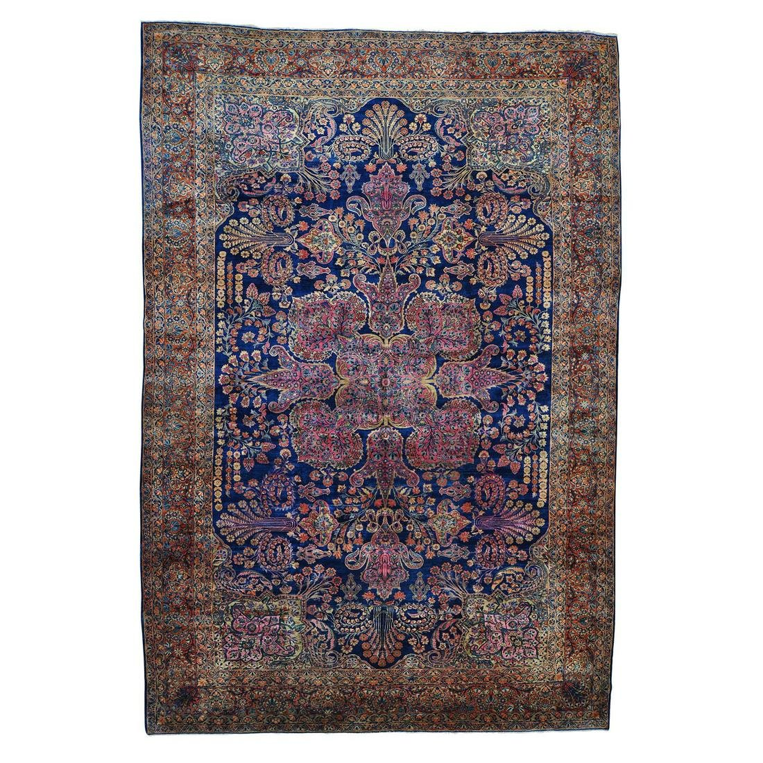 Antique Persian Mohajeran Sarouk Oversize Rug