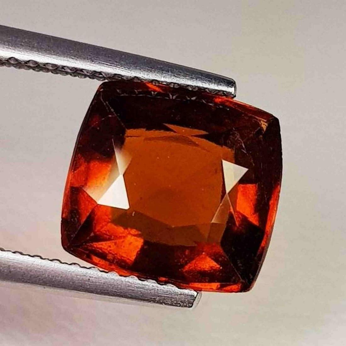 Natural Hessonite Garnet Cushion Cut 3.85 ct