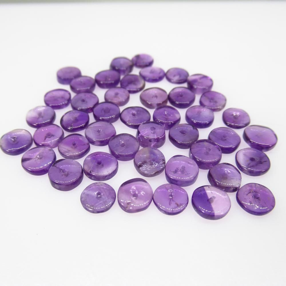 24.55 Ct Natural 47 Purple Amethyst Drilled Round Beads