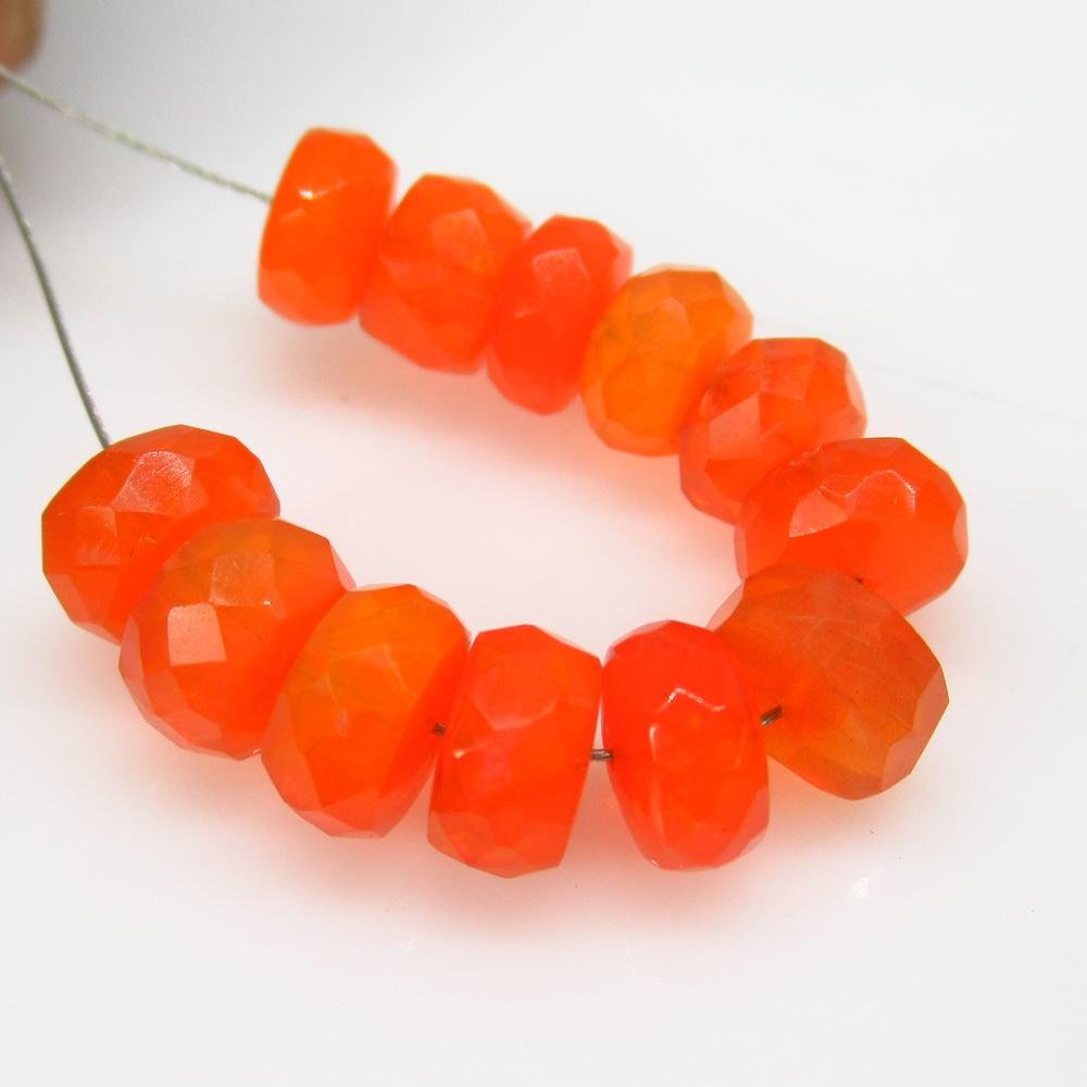 11.39 Ct Natural 12 Drilled Round Orange Faceted Fire