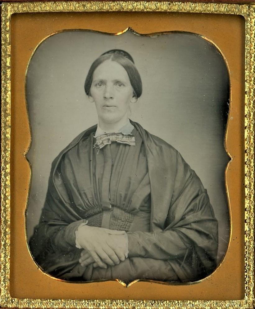 Possibly Pregnant Woman Sixth Plate Daguerreotype