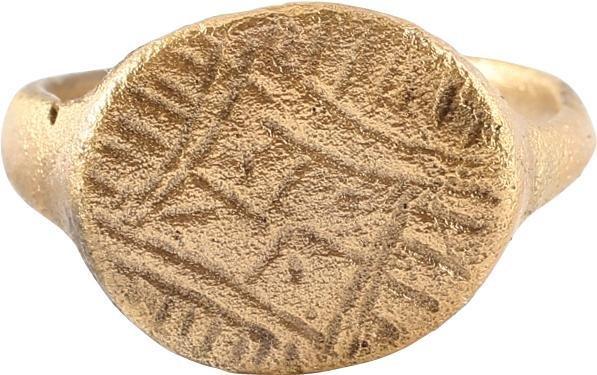 EUROPEAN CRUSADER'S RING C.1100 AD, SIZE 8