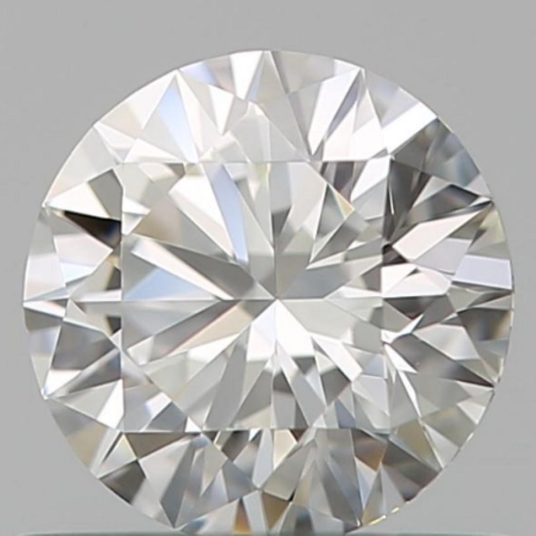 GIA CERT 0.30 CTW ROUND DIAMOND DVVS1