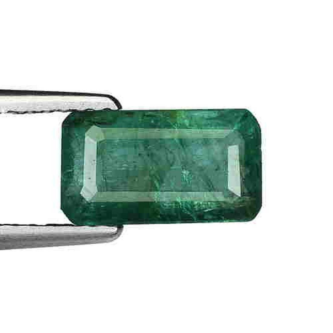1.90Ct NATURAL UNHEATED GREEN ZAMBIAN EMERALD OCTAGON