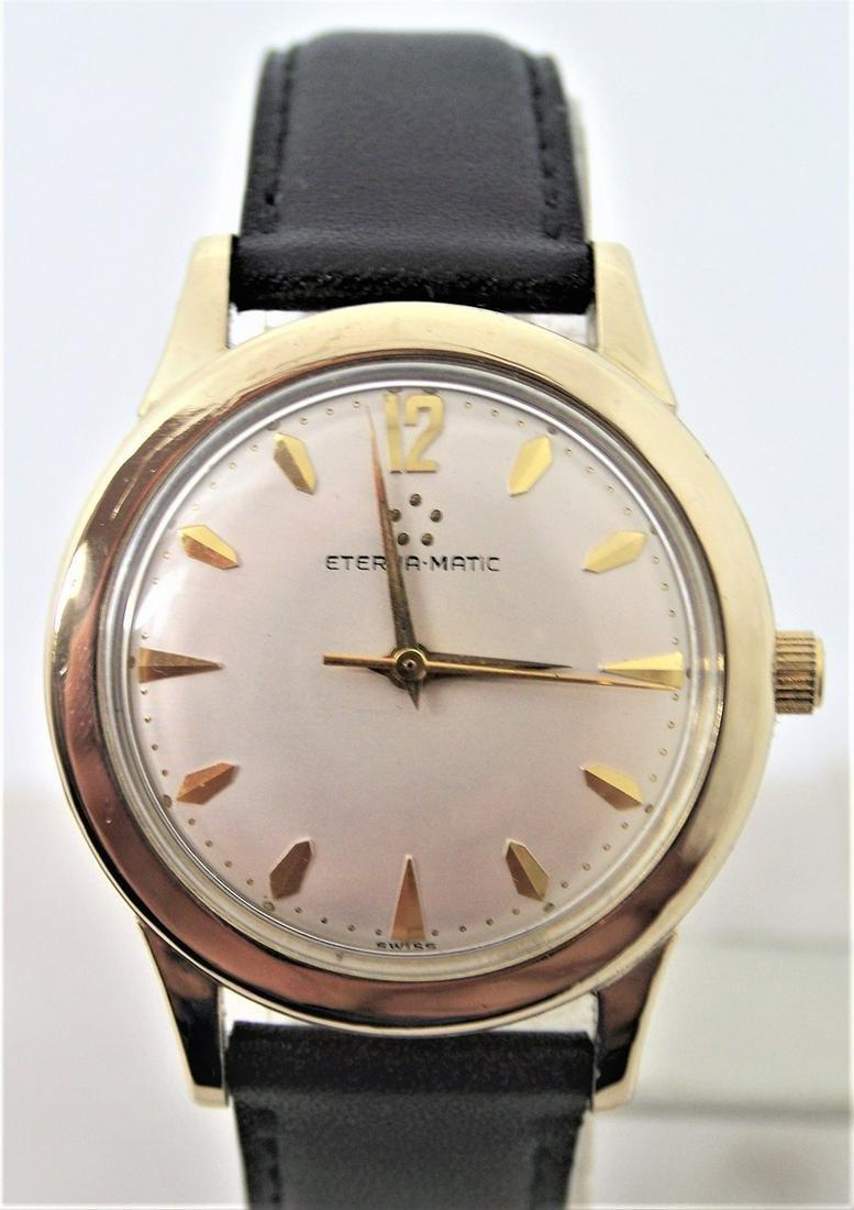 Vintage Mens 14k GF ETERNA-MATIC Automatic Watch 1950s