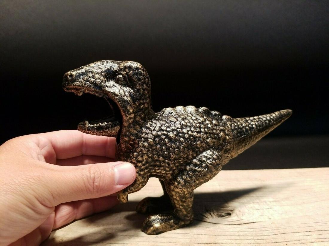Cast Iron Dinosaur Tyrannosaurus Rex Nut Cracker