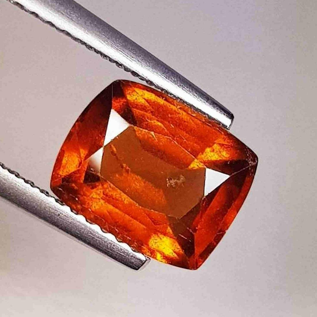 Natural Hessonite Garnet Cushion Cut 2.60 ct