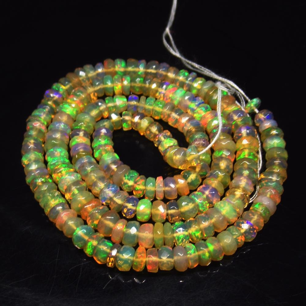38.07 Ct Natural 190 Drilled Multi-Color Faceted Fire