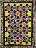 Vintage Kaleidoscope Stars Quilt