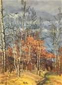 Oil painting Autumn landscape Alexander Georgievich