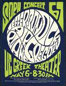 Jefferson Airplane Greek Theater UC Berkeley Handbill