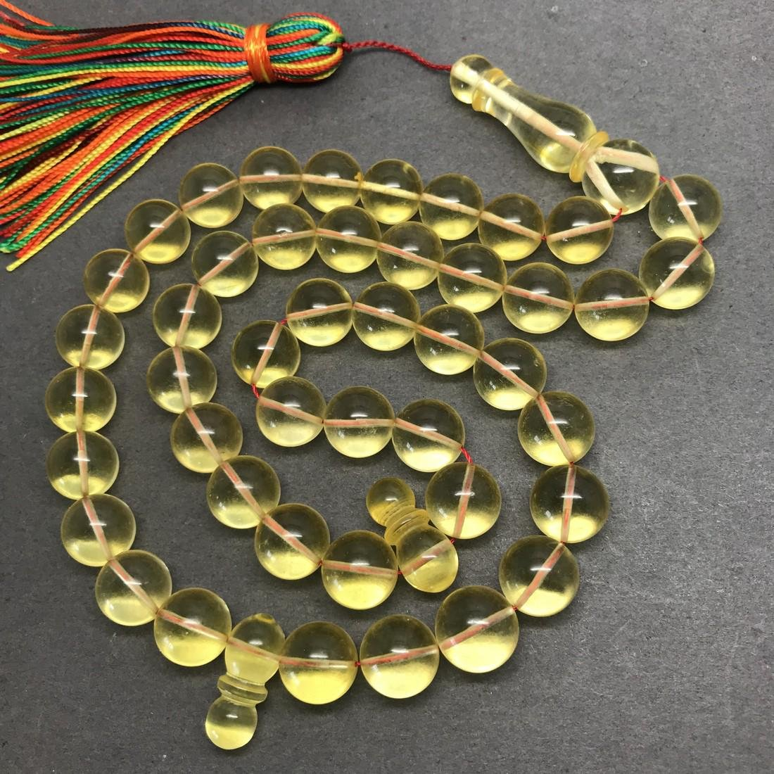 Exquisite Amber Tesbih made from Round Amber beads