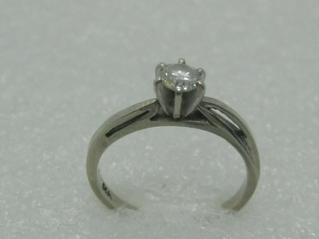 Vintage 14kt Diamond Engagement Ring, Size 6.75,
