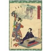 Kunisada II, The Tale of Genji, Chapter 33, Fuji no