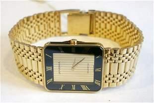 New Solid 18k Yellow Gold JUVENIA Men's watch.Orig Box*