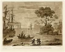 Claude Lorrain Richard Earlom etching Liber
