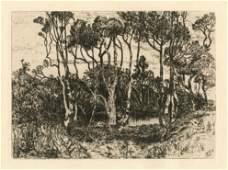 Mary Nimmo Moran original etching Solitude