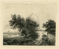 Jacques Beurdeley Jacob van Ruisdael etching Le